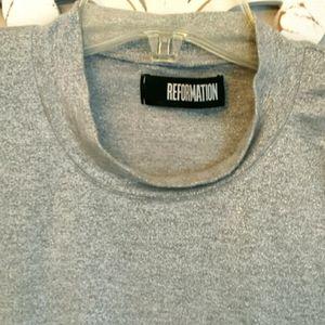 Reformation Grey Sparkle T shirt size  XL
